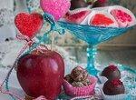 Шоколадные конфеты с яблочными чипсами и Кальвадосом - Apfel Calvados Zimt Praline