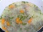 Детский рисовый суп-пюре из печени кролика и пшеничная каша (скороварка+плита)