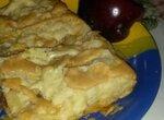 Мега простой слоеный яблочный пирог с карамелью