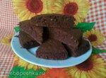 Бисквит шоколадный с грецкими орехами