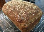 Цельнозерновой пшеничный хлеб с овсяными отрубями (Oat Bran Broom Bread) Peter Reinhart