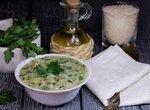 Рисовый суп с зеленью (постный)