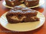 Шоколадный песочный пирог с творожной начинкой