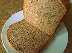 Простенький серый хлеб с фруктовым смузи