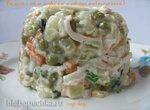 Салат с кальмарами и овощами (постный)