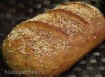 Заварной ароматный хлеб с цельнозерновой мукой Захарий
