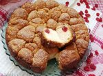 Обезьяний хлеб с вяленой вишней, коричневым сахаром, корицей