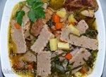 Капуста Аше (суп с салмой и капустой)