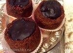 Шоколадные шорткейки с малиной