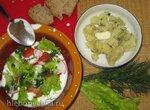Деревенский летний холодный суп на йогурте (простокваше)