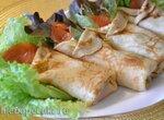 Блинчики молочно-пивные, с малосольным лососем