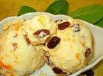 Рисовое мороженое-десерт с курагой и изюмом