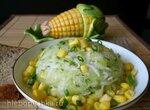 Салат 2 редьки, огурец и кукуруза