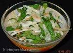Салат овощной с одуванчиком