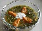 Контрастный зеленый суп
