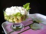Салат-коктейль с зернёным творогом