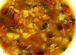 Итальянский суп со смесью бобовых
