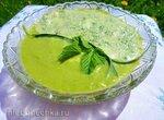 Крем-салат из спаржи и огородной зелени