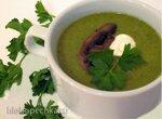 Холодный крем-суп из петрушки и фенхеля с грибами