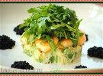Тар-тар из авокадо с тигровыми креветками