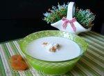 Холодный молочный суп из кураги с рисом