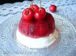 Сливочно-йогуртовый замороженный десерт с черешней