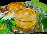Зелёный чай с апельсинами