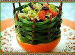 Цитрусовый салат из кускуса с мидиями и мятой