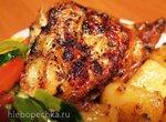 Курица с дымком и картошка по-деревенски в мультиварке Steba DD2