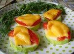 Быстрые кабачки с помидорами и сыром в микроволновке