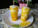 Мраморное мороженое из йогурта и сока манго