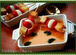 Холодный суп-пюре из кабачков и помидоров