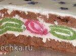 Торт с завитками на разрезе (схема сборки)