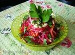 Салат из свеклы, моркови и корня сельдерея
