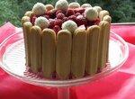 Малиново-ванильный торт-мороженое