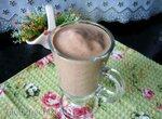 Мягкое мороженое или крем-смузи из бананов, какао и льняных отрубей