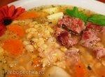 Гороховый суп с жареной индейкой в мультиварке Steba DD2