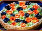 Овощной пирог Цветочная поляна