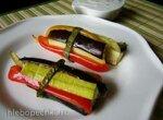 Овощной хворост со сметанно-чесночным соусом