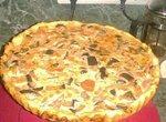 Тарт с баклажанами и помидорами