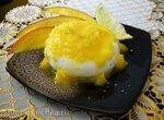 Лаймовый замороженный шербет с протёртым манго