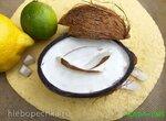 Кокосовое мороженое с лаймом и кокосовыми чипсами (Gelato al cocco)
