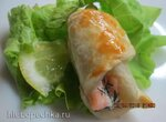 Закусочные круасанчики с лососем