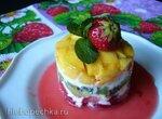 Десерт Фруктово-ягодные башенки