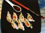 Пельмени китайские с курицей и креветками