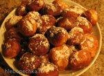 Творожные пончики на сковороде