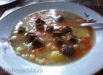 Суп с горохом и куриной грудкой в микроволновке
