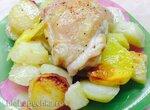 Куриные бёдра с картофелем Проще не бывает, а всегда вкусно (печь Steba KB28ECO line)