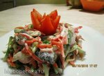 Салат овощной с жареными грибами