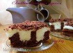 Торт бисквитный с ванильным пудингом